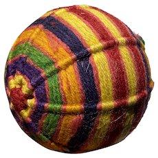 Antique Early Amish Sewing Crotchet Ball Pin Cushion Sewing Ball Beautiful Item