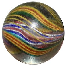 """OUTSTANDING GERMAN Tri Level Divided Core Marble Fantastic 2 1/16"""" Exceptional"""