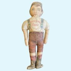 "Early Antique Original 15"" Cloth Ceresota Flour Advertising Cloth Doll Fantastic Example"