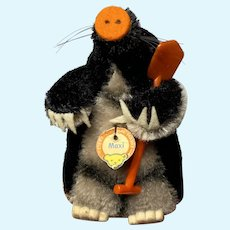 "Vintage Miniature Steiff 4"" Maxi the Mole Original w/ Steiff Tag Fantastic NM+"