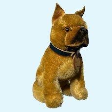"Vintage Miniature Steiff 4"" Sarras Dog Original w/ Steiff Tag Fantastic NM+"