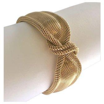 Vintage 18k Yellow Gold Mesh Bracelet