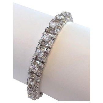 Fancy Diamond Tennis Bracelet 11.00 cttw