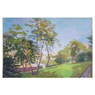 Robert Paul Mahélin (1889-1968), French Vintage Oil Landscape, Signed Painting, 1927
