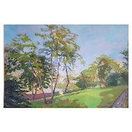 Robert Paul Mahélin (1889-1968), French Vintage Oil Landscape, 1927