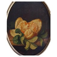 Jean-Claude Bomboy (1826-1881), Still Life, Small Antique Oil Painting, 1857