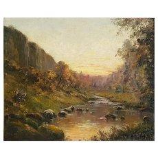 Louis Cabié (1853-1939) Original Oil Landscape 1889 French Painting