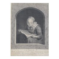 Johann Georg Wille (1715-1808) Original 18th Century French Engraving, 1761