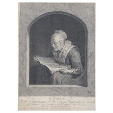 Johann Georg Wille (1715-1808) Original 18th Century French Engraving, 1761