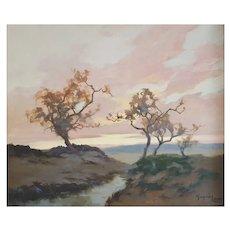 Grégoire Lavaux (1860), French Oil Landscape Painting, Circa 1910