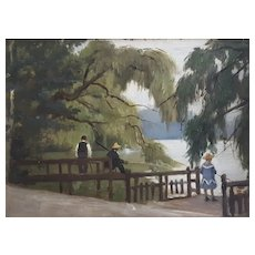 19th Century Oil Painting French Impressionism Landscape