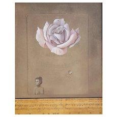 Don Clarke (1932-2012) Original Mixed Media Rose Painting