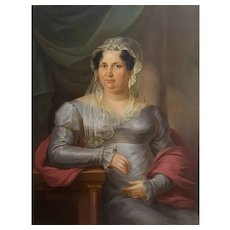 Anton Bayer (1768-1833), Oil Portrait of a Lady, Signed and dated, 1822