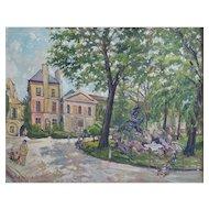 Gustave François Beaudelet (1893-1968), Vintage Oil Landscape Painting