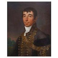 János Donát (1744-1830), Antique Oil Man Portrait, 1812