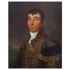 János Donát (1744-1830), Oil Military Man Portrait, Signed/Dated 1812
