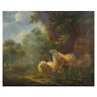 Henri Carpentero (1820-1874), Antique Oil Landscape Painting, Circa 1850
