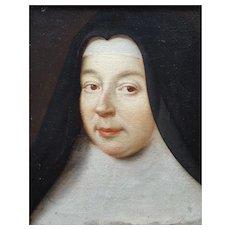 17th Century Oil Woman Portrait, School of Philippe de Champagne (1602-1674)