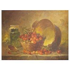 Amédée Langlois (1853-1925) Still Life Oil Painting Circa 1890