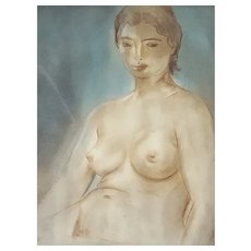 Louis Muhlstock (1904-2001),  Nude Woman - 1960