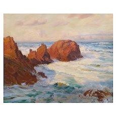 Arthur John Black (1855-1936), Coastal Marine Painting, Early 20th Century