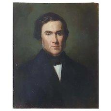 Félix Cottavoz (1810-1886), French Portrait of a Gentleman, 1856
