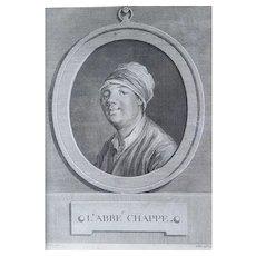 Original Engraving, 18th Century Portrait, Jean-Baptiste Tilliard (1740-1813) after Frédou