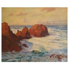 Arthur John Black (1855-1936), Oil Marine Coastal Landscape Painting