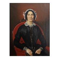 Friedrich Hohbach (1809-1877), German Portrait of a Lady, 1867