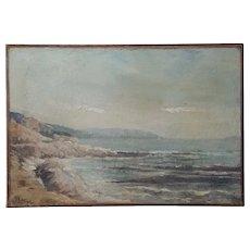 19th Century Marine Landscape Painting, Signed J.B. Olive