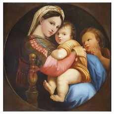 Madonna of the Chair, after Raphael – Circa 1860