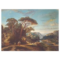19th Century Landscape Painting on Canvas To be Restored Circa 1830