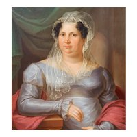 Portrait of a Lady, 1822 Oil Painting on Canvas, Anton Bayer (1768-1833)