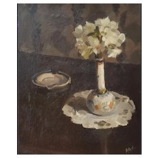 Still Life Oil Painting, French Vintage Oil on Canvas, Robert Caulet