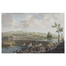 Charles Heath (1785-1848), Original Engraving, British Battle Scene, 1812