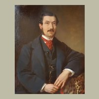 Portrait of a Man, 1863 Oil on Canvas,Painting, Franz Sterrer