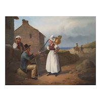 19th Century Scene Painting, French Rural Scene, Hippolyte Bellangé (1800-1866)