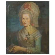 18th Century Portrait of a Lady, Oil on Canvas To be Restored, Circa 1785