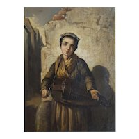 19th Century Oil on Canvas Painting, Young Woman Portrait, Agathon Léonard (1841-1923)