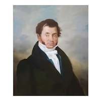 19th Century Portrait Painting, Portrait of a Man,  French School Circa 1820