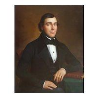 Portrait of a Gentleman, 19th Century Oil on Canvas Painting, Benoist Bonvoisin (1788-1860)