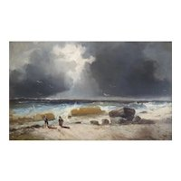 19th Century Painting Landscape - Oil on Canvas Coastal Painting - Émile Godchaux (1860-1938)