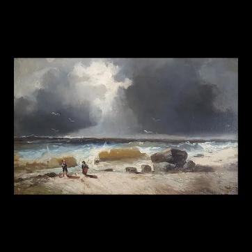 19th Century Painting Landscape - Oil on Canvas Coastal Painting - Émile Godchaux (1860-1938)