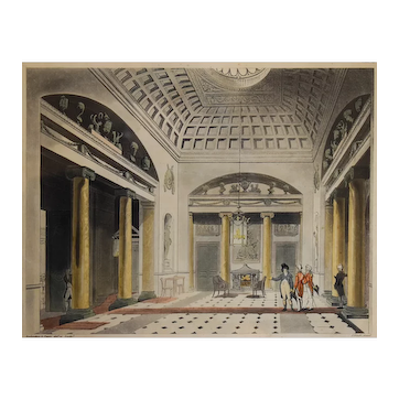 1808 Print of Thomas Rowlandson & August Pugin - Ackermann's Microcosm of London
