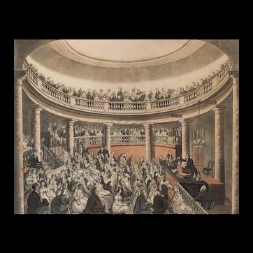 1809 Print of Thomas Rowlandson & August Pugin - Ackermann's Microcosm of London