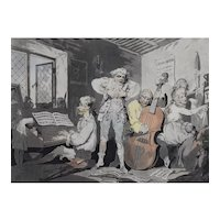 Thomas Rowlandson, Original Satirical Coloured Print, 1785