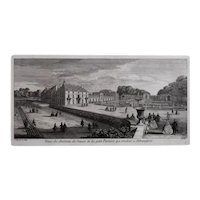 French Chateau, Original 19th Century Engraving after Jacques Rigaud