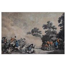 Thomas Rowlandson Print,  Hyde Park Funny Scene, 1794