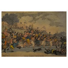 Original Thomas Rowlandson Print, Funny Scene Coloured Print, 1811