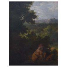 18th Century Pastoral Scene Painting, Pierre Salomon Domenchin de Chavanne